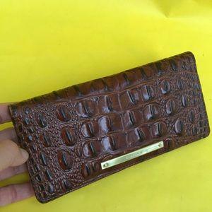 Large burgundy Brahmin leather cards holder/wallet